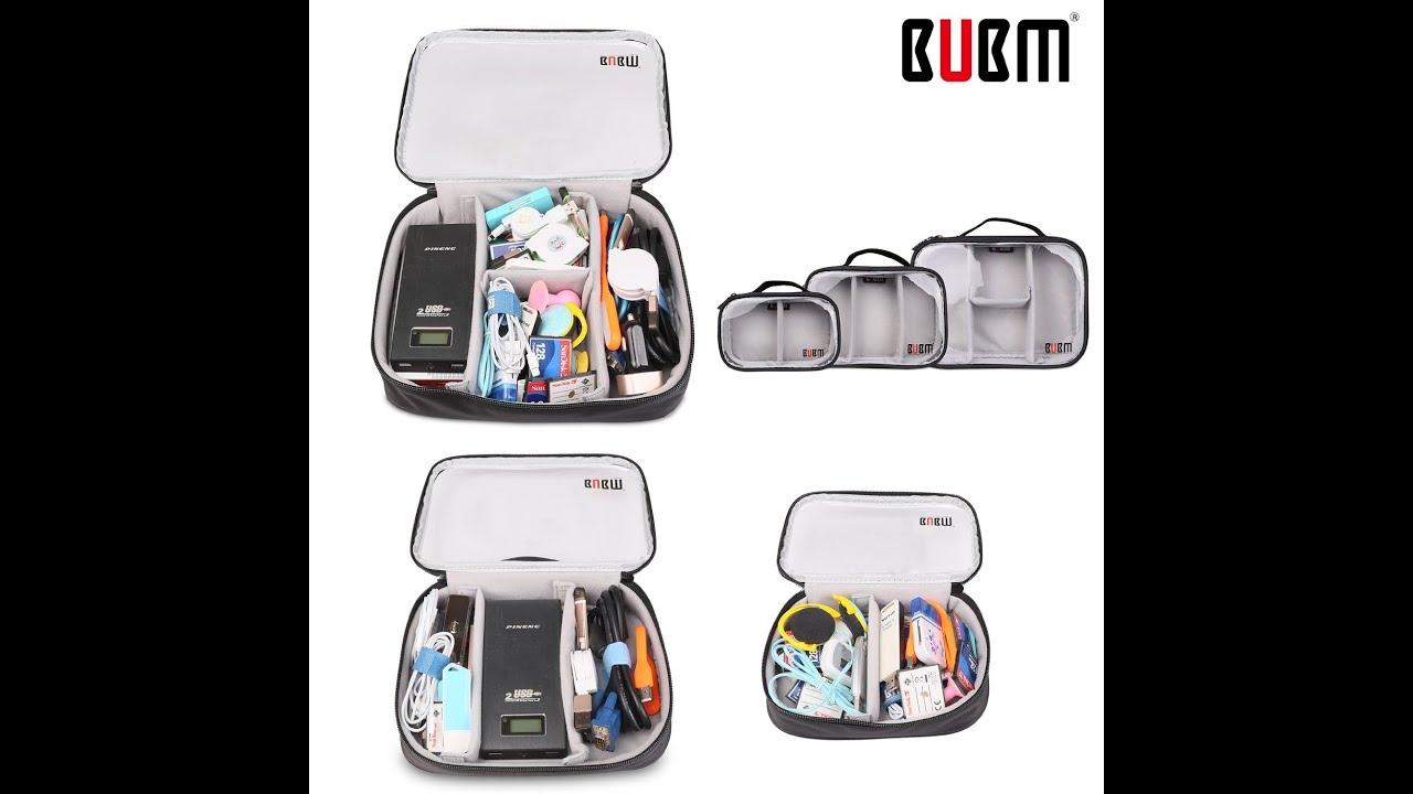 Bubm Clear 3pcs Set Portable Electronic Accessories Travel