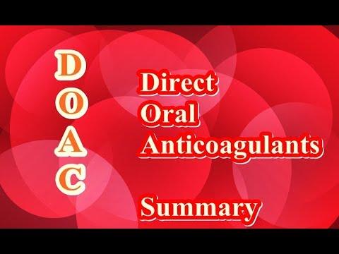 DOAC in short   (Direct Oral Anticoagulants)