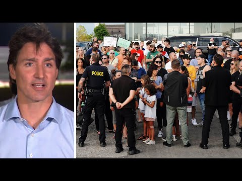 Trudeau moves to new location, addresses supporters after earlier rally cancelled