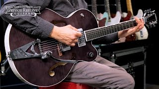 Gretsch Guitars G6120SH Flame Maple Hot Rod Brian Setzer Semi-Hollow Electric Guitar