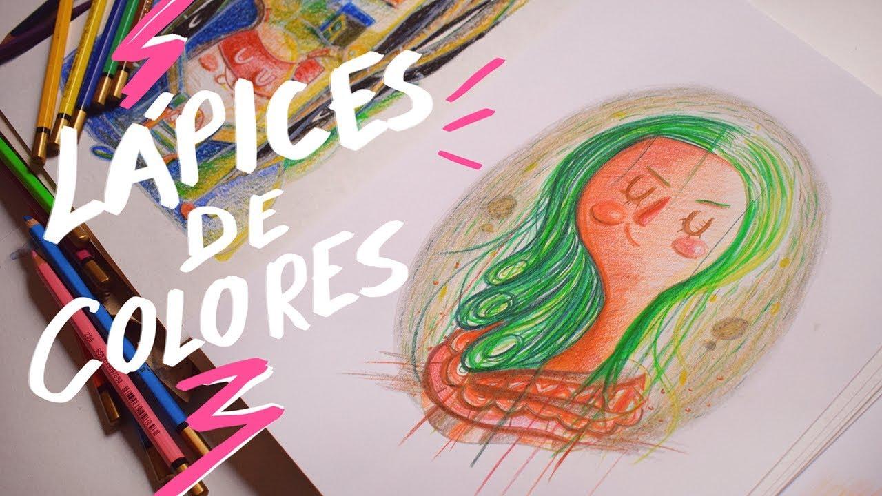 ¿Cómo pintar con lápices de colores?-Andreaga - YouTube