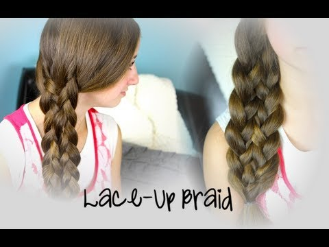 Lace Up Braid Cute Braided Hairstyles Youtube