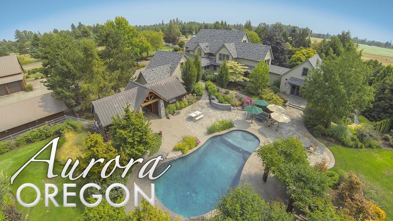 Sauna For Sale >> 25355 NE Glass Rd Aurora Oregon Luxury Estate for sale - YouTube