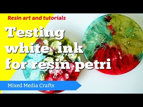 White ink for resin petri dish art - review and comparison testing