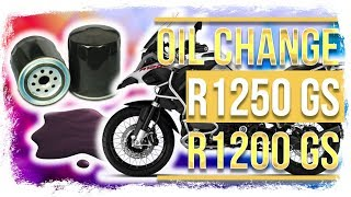 BMW R1250GS and R1200GS Oil Change (with filter ...duh)