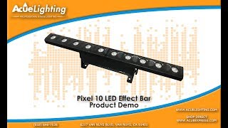 Pixel 10 LED Bar Product Demo Video By Acue Lighting