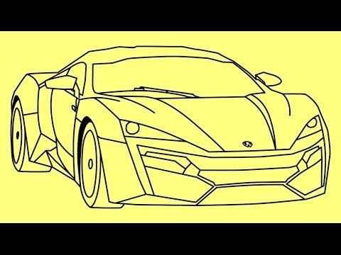 How To Draw Lykan Hypersport Fast And Furious 7 Car Como Dibujar