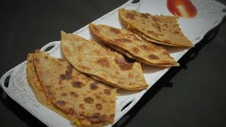 Pizza Paratha  Stuffed Vegetable Cheese Paratha  Step by Step Recipe