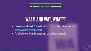 Getting to know Web Assembly - Voxxed Days Singapore 2019