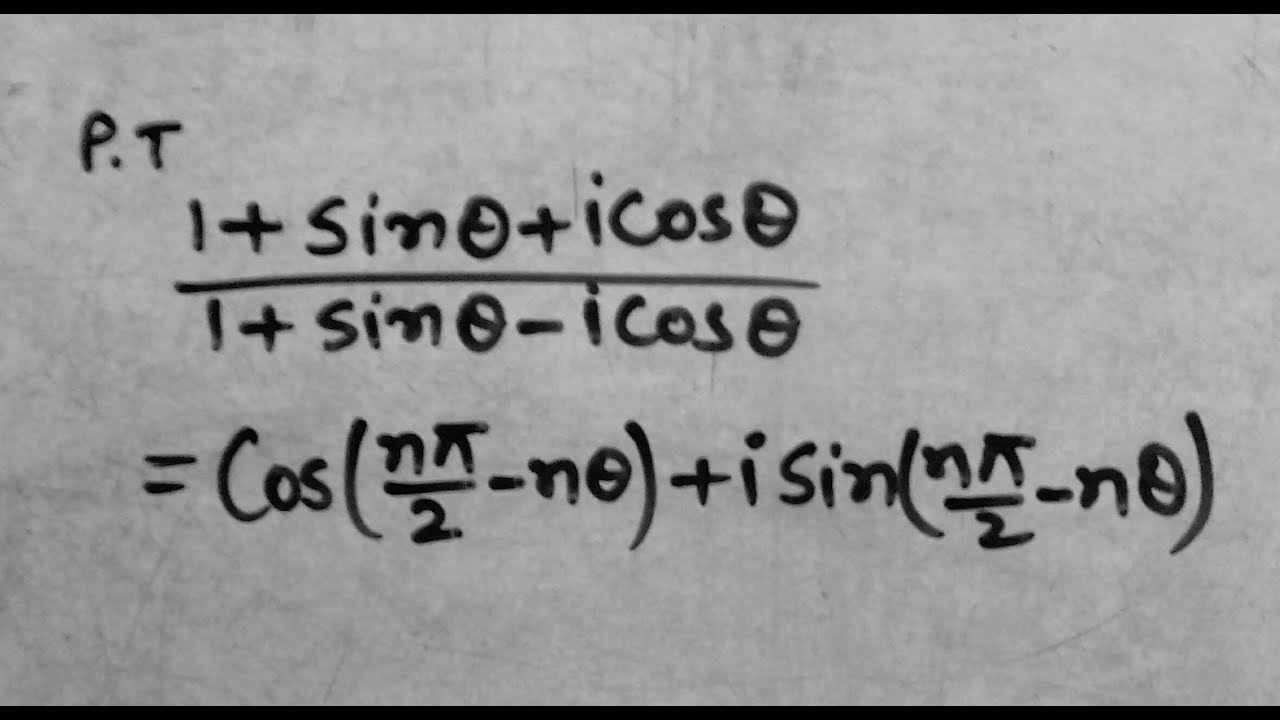 bsc 1st year maths, application of de moivre's theorem