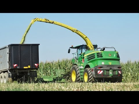 Mais Silage | John Deere 8800i + Krone Easy Collect 12 Rows | JD Tractors