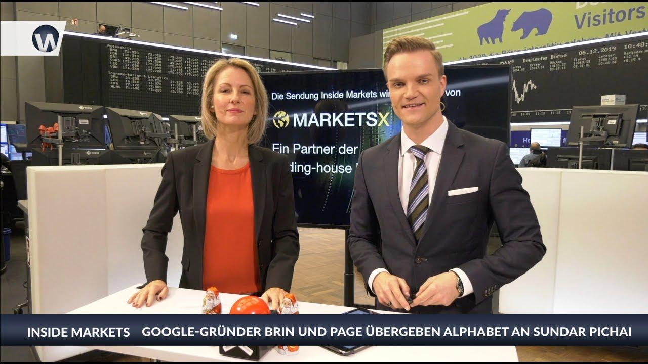 Inside MarketsX: Google-Gründer Brin und Page übergeben Alphabet an Sundar Pichai