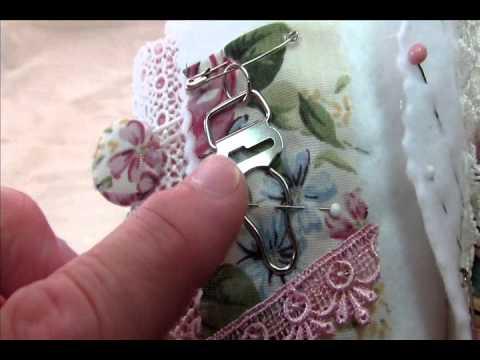 Shabby Fabric Needle Book & Shabby Scissors Holder for Suhafuha