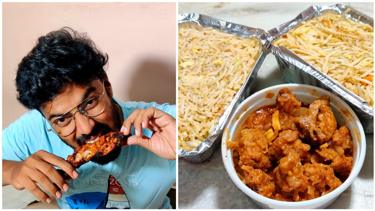 40 Rs Fried Rice + Chicken Full Leg Tandoori - Nila Fast Food Erode