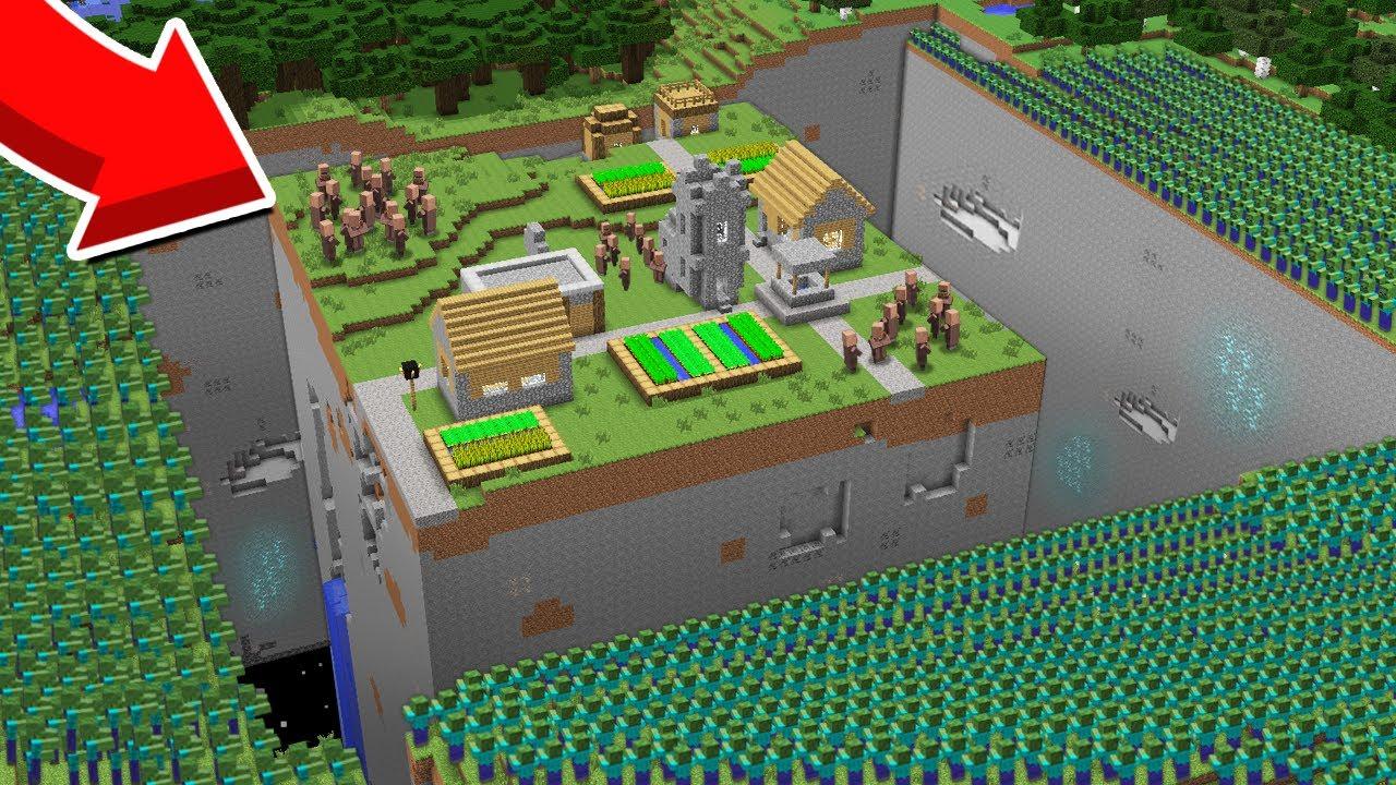 У МЕНЯ ЕСТЬ 5 МИНУТ ЧТОБЫ СПАСТИ ЖИТЕЛЕЙ ОТ ЗОМБИ В МАЙНКРАФТ 100% Троллинг Ловушка Minecraft