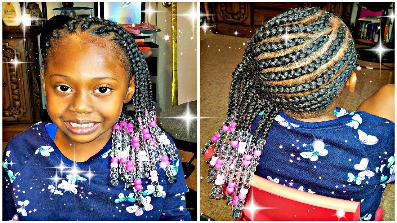 little girls side braids