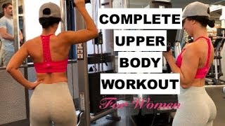 Upper Body Workout + Tips   Complete Routine