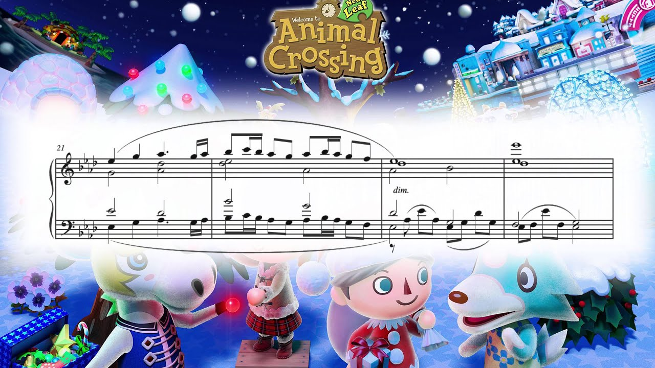 7PM (Animal Crossing: New Leaf) ~ Piano cover w/ Sheet ...