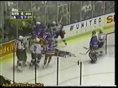 Matt Johnson Sucker Punches Jeff Beukeboom (11-19-98)