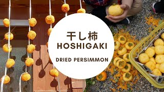 山の辺の道の干し柿づくり Dried persimmons (kaki) at the Yamanobe ancient path