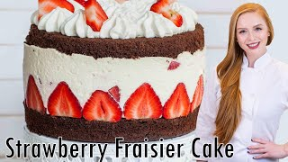 Chocolate Strawberry Cheesecake - Fraisier Cake