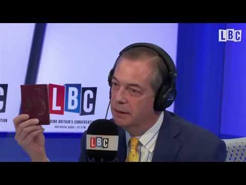 Nigel Farage Celebrates the Return of the UK Passport