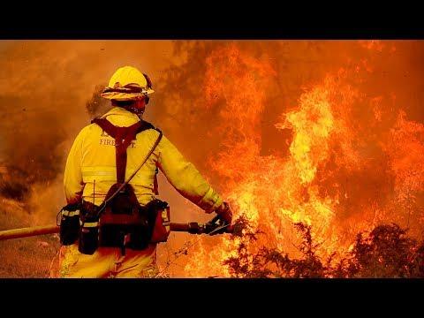 California Wildfire And Destruction Around Ventura And Highway 101