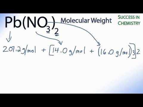 Pb No3 Molar Molecular Weight