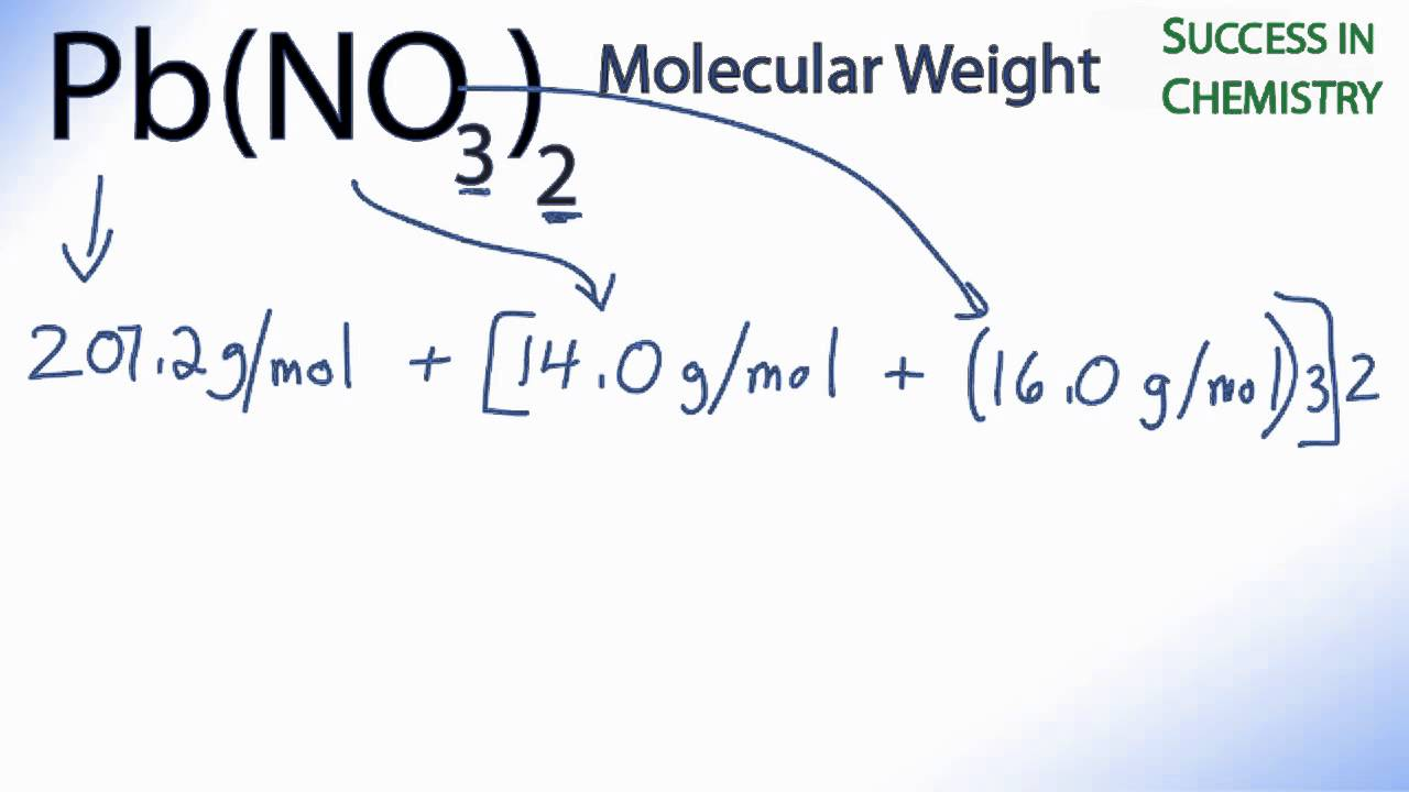 Pb(NO3)2 Molar Mass / Molecular Weight   YouTube