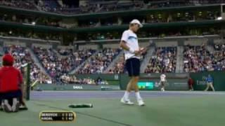 Indian Wells 2010 Thursday Nadal Highlights