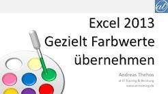 Excel # 488 - Farbwerte gezielt auslesen und übernehmen - PowerPoint 2013-Pipette