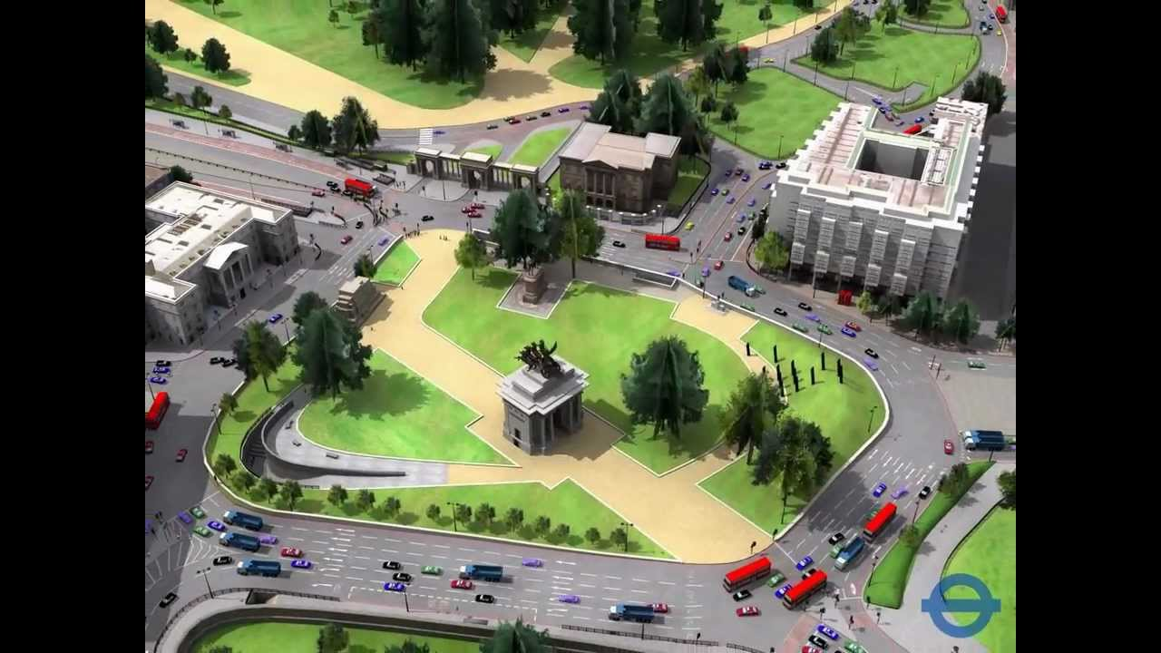 d305a51c523 PTV Vissim  Simulation of Traffic around Hyde Park Corner - YouTube