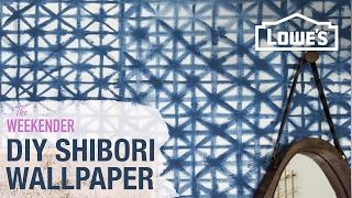 DIY Shibori Wallpaper