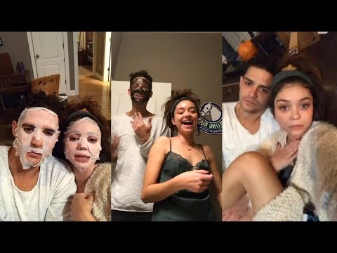Sarah Hyland | Instagram Live Stream | 12 November 2017 w/ Boyfriend Wells Adams