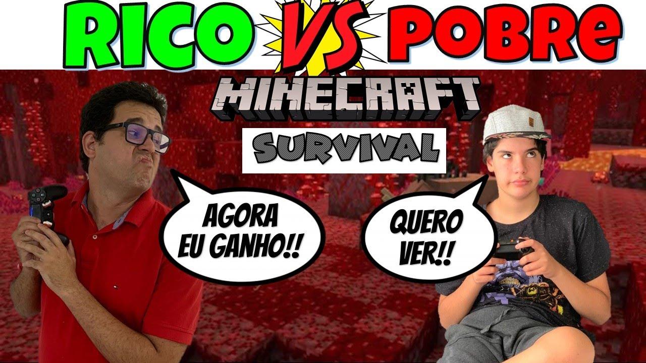 RICO VS POBRE MINECRAFT SURVIVAL 2 | PEDRO MAIA