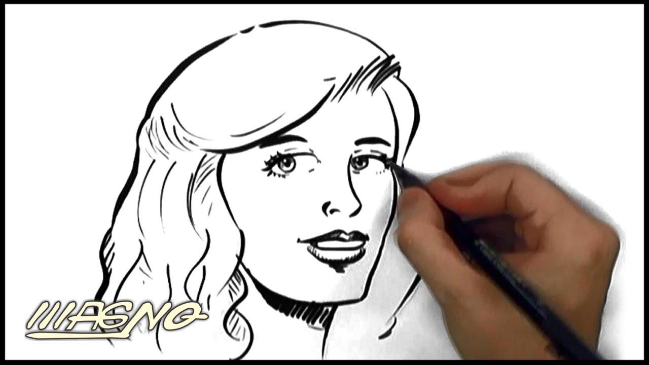 Rostos Desenhos: Curso De Desenho: Como Desenhar Rosto Feminino (How To