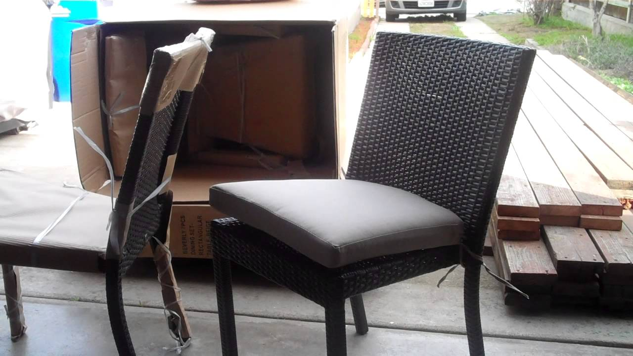 Review Of Hampton Bay Beverly 7 Piece Patio Set   Part 1