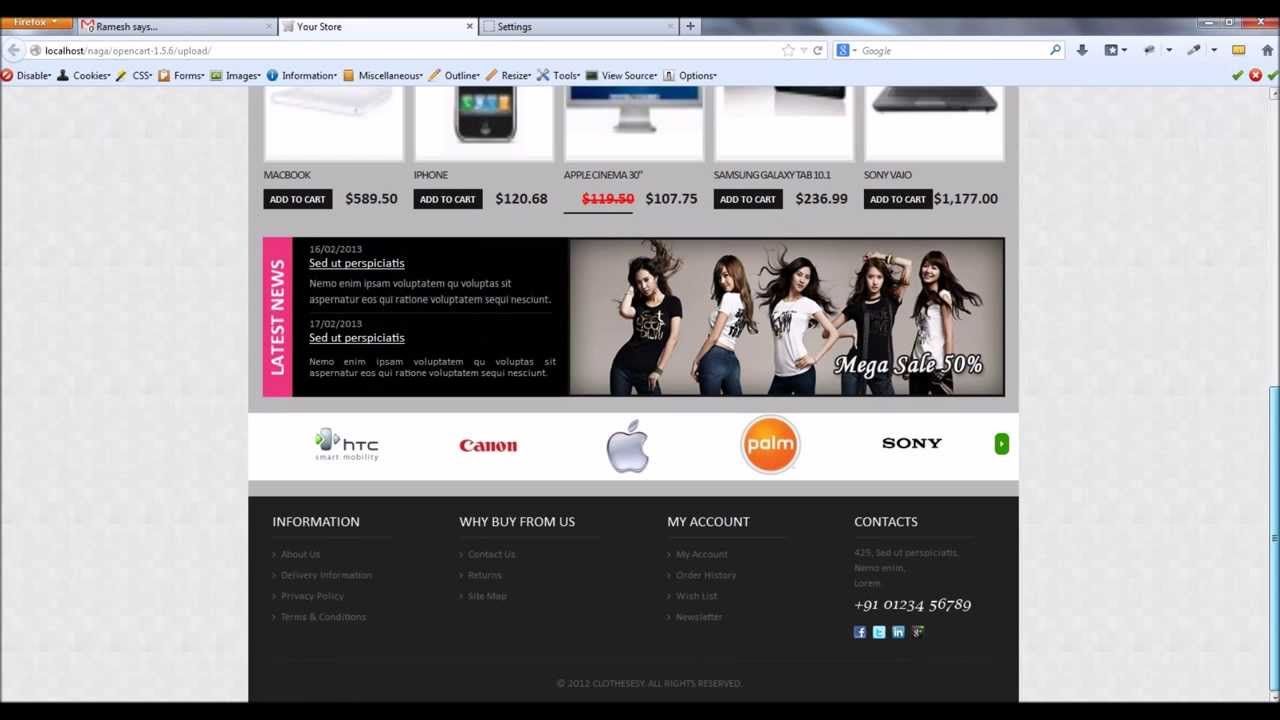 How to install a opencart template|Opencart themes installation ...
