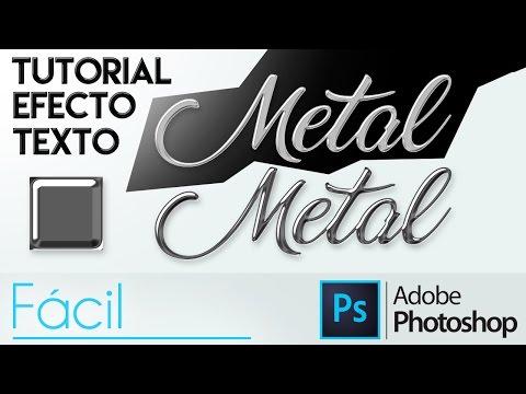 Photoshop CC | Efecto Metal/Cromado en un Texto (fácil) | Tutorial en Español