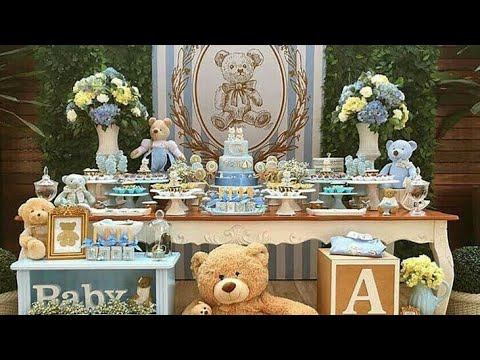 Baby shower ni o baby shower boy 2018 decoracion mesa de for Decoracion para mesa dulce
