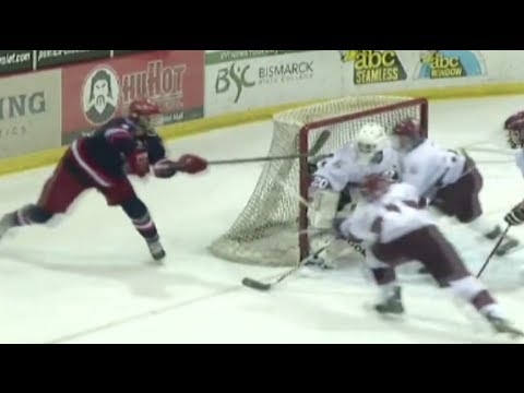 Alec Rauhauser Lacrosse-Style Hockey Goal!