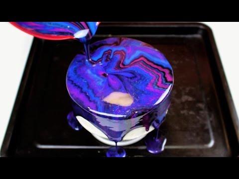 Easy 5 Ingredient Mirror Glaze Cake I CHELSWEETS