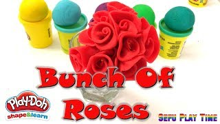 How to Make Flowers with Play doh homemade. Learn Kids Fun Activity with kids songs.