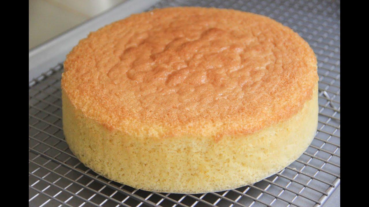 Sponge Cake Recipe Japanese Cooking 101 Youtube