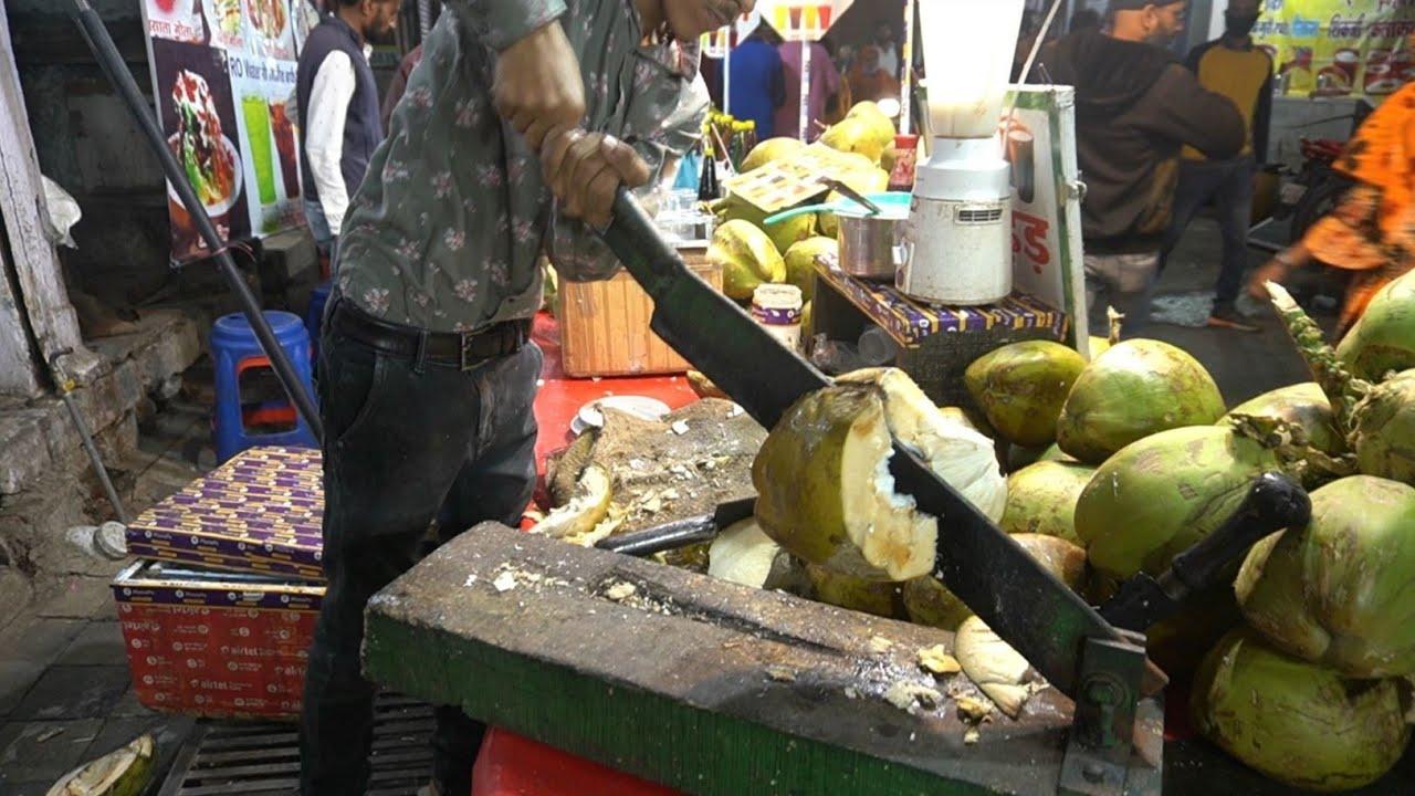 Coconut Crush Master | Amazing skills | Indian Street Food
