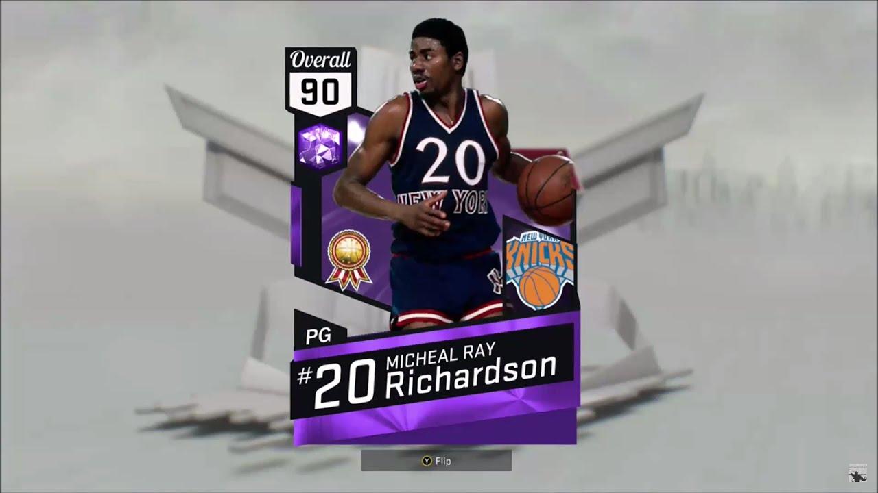 NBA2K17 Amethyst Michael Ray Richardson Stats