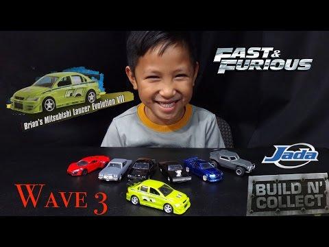 Fast & Furious - 1:55 - 3rd Wave Build N Collect Set Mitsubishi Lancer Evolution VII - Jada Toys