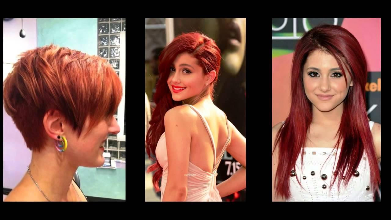 Colore rosso per capelli corti