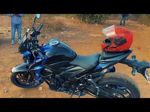 Superbike Suzuki GSX -S750 ride and testing with friends