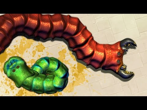 THE NEW SLITHER.IO? GIANT WORM DEATHMATCH! (Insatia Gameplay)